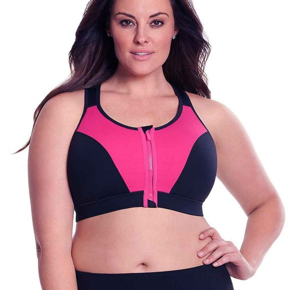 f19858e425 NWT LIVI Active Plus Size Sports Bra 44DD Zipper